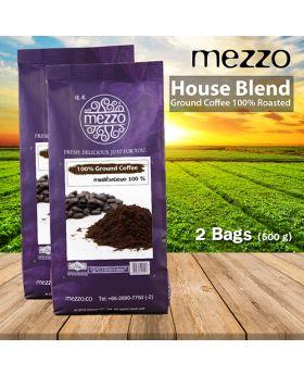 Roasted Coffee, House Blend  250 gm x 2 bags เมล็ดกาแฟคั่ว 2 ถุง