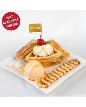 BANANA & CARAMEL WAFFLE ICE CREAM  華夫餅與焦糖香蕉, 冰淇淋