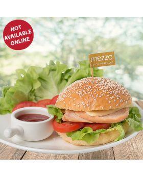 Smoked Chicken Burger เบอร์เกอร์ ไก่รมควัน
