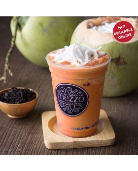 Coconut Thai Tea Frappe  ชาไทยปั่นมะพร้าวอ่อน    泰式椰奶茶沙冰