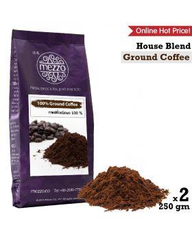 Ground Coffee, House Blend : 250gm x 2 bag เมล็ดกาแฟคั่วบด 2 ถุง