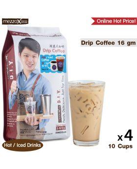 MezzoX Drip Coffee, Espresso: 16gm x 10pcs x 4