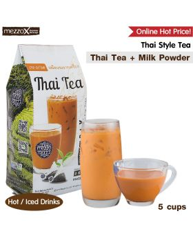 MezzoX Thai Milk Tea: 5 Cups, Thai Tea Leaves + Milk Powder