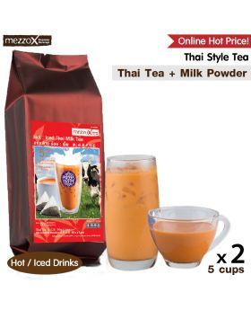 MezzoX Thai Style Tea: 5 Cups, Thai Tea + Milk Powder, x 2pcs.
